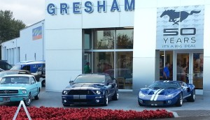 Member cars celebrating 50 years at Gresham Ford